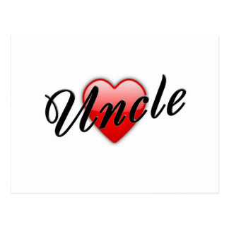 Uncle with Heart Graphic Postcards