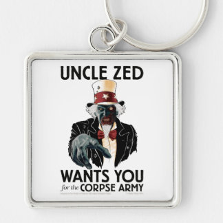 "Uncle Zed 2"" Square keychain"