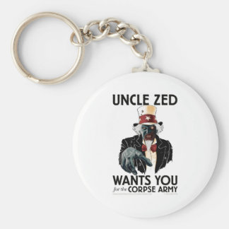 Uncle Zed Button Keychain