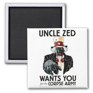 Uncle Zed Square Fridge Magnet