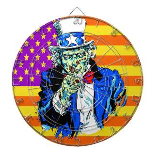 Uncle Zombie Sam Dartboard With Darts