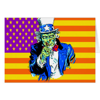 Uncle Zombie Sam Greeting Card
