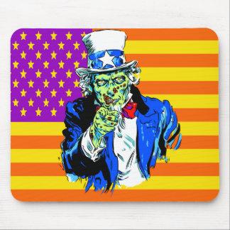 Uncle Zombie Sam Mouse Pad