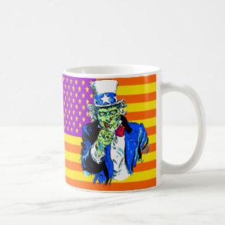 Uncle Zombie Sam Coffee Mugs