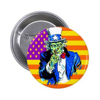 Uncle Zombie Sam Pinback Button