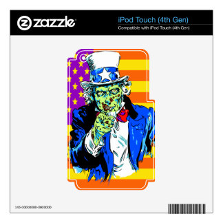 Uncle Zombie Sam Skin For iPod Touch 4G