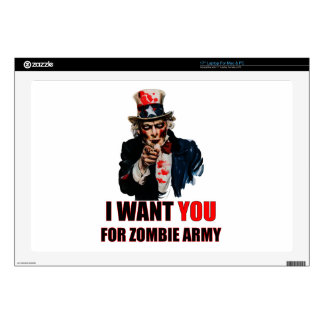 """Uncle Zombie Skin For 17"""" Laptop"""