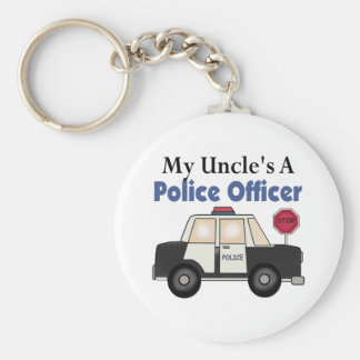 Uncle's A Police Officer Key Chain