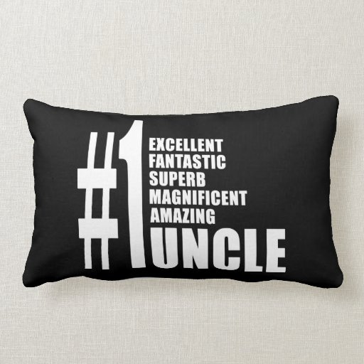 Uncles Birthdays Gifts : Number One Uncle Pillow