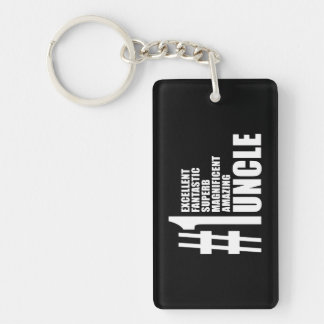 Uncles Birthdays Gifts : Number One Uncle Single-Sided Rectangular Acrylic Keychain