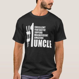 Uncles Birthdays Gifts : Number One Uncle T-Shirt