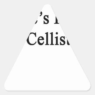 Uncle's Future Cellist Triangle Sticker
