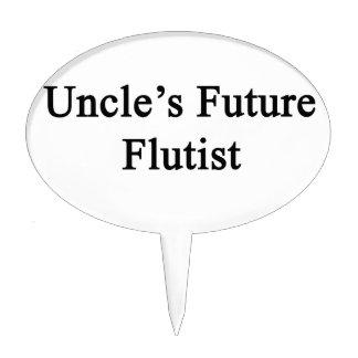 Uncle's Future Flutist Cake Topper