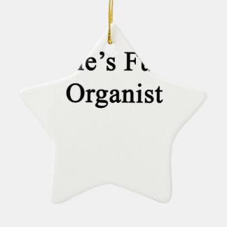 Uncle's Future Organist Ceramic Ornament