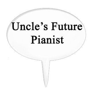 Uncle's Future Pianist Cake Topper