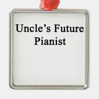 Uncle's Future Pianist Metal Ornament