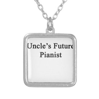 Uncle's Future Pianist Silver Plated Necklace