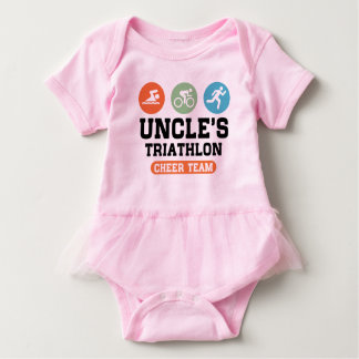 Uncle's Triathlon Cheer Team Baby Bodysuit