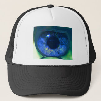 Uncommon Blue Eye Floating in Fishbowl Trucker Hat