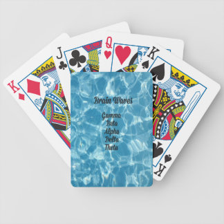 "Uncommon Blue Wavy ""Brain Waves"" Bicycle Playing Cards"