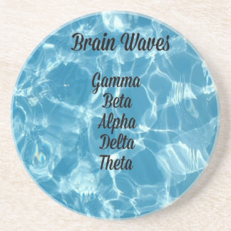 "Uncommon Blue Wavy ""Brain Waves"" Coaster"