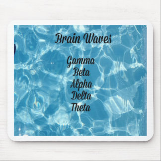 """Uncommon Blue Wavy """"Brain Waves"""" Mouse Pad"""