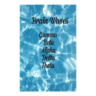 "Uncommon Blue Wavy ""Brain Waves"" Stationery"