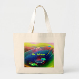 Uncommon Bright Rainbow Our Universe Abstract Large Tote Bag