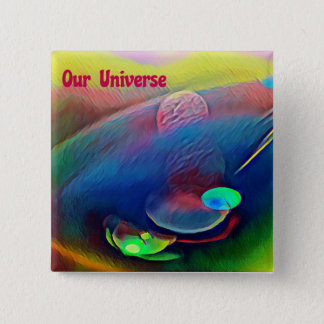 Uncommon Bright Rainbow Our Universe Abstract Pinback Button