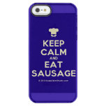 [Chef hat] keep calm and eat sausage  Uncommon Cases (iPhone 5/5s/6) Uncommon Clearly™ Deflector iPhone 5 Case