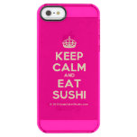 [Crown] keep calm and eat sushi  Uncommon Cases (iPhone 5/5s/6) Uncommon Clearly™ Deflector iPhone 5 Case
