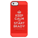 [Crown] keep calm and start brady  Uncommon Cases (iPhone 5/5s/6) Uncommon Clearly™ Deflector iPhone 5 Case