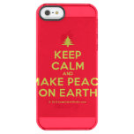 [Xmas tree] keep calm and make peace on earth  Uncommon Cases (iPhone 5/5s/6) Uncommon Clearly™ Deflector iPhone 5 Case