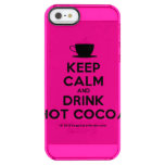 [Cup] keep calm and drink hot cocoa  Uncommon Cases (iPhone 5/5s/6) Uncommon Clearly™ Deflector iPhone 5 Case