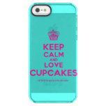 [Cupcake] keep calm and love cupcakes  Uncommon Cases (iPhone 5/5s/6) Uncommon Clearly™ Deflector iPhone 5 Case
