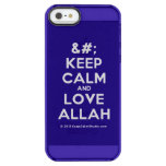 [No Crown] keep calm and love allah  Uncommon Cases (iPhone 5/5s/6) Uncommon Clearly™ Deflector iPhone 5 Case