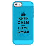 [Crown] keep calm and love omar  Uncommon Cases (iPhone 5/5s/6) Uncommon Clearly™ Deflector iPhone 5 Case
