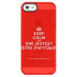 [Crown] keep calm and kim jesteś? jesteś zwycięzcą  Uncommon Cases (iPhone 5/5s/6) Uncommon Clearly™ Deflector iPhone 5 Case