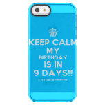 [Cupcake] keep calm my birthday is in 9 days!!  Uncommon Cases (iPhone 5/5s/6) Uncommon Clearly™ Deflector iPhone 5 Case