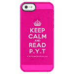 [Crown] keep calm and read p.y.t  Uncommon Cases (iPhone 5/5s/6) Uncommon Clearly™ Deflector iPhone 5 Case
