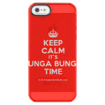 [Crown] keep calm it's bunga bunga time  Uncommon Cases (iPhone 5/5s/6) Uncommon Clearly™ Deflector iPhone 5 Case