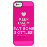 [Love heart] keep calm and eat some skittles!  Uncommon Cases (iPhone 5/5s/6) Uncommon Clearly™ Deflector iPhone 5 Case