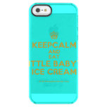 [Cupcake] keepcalm and eat little baby's ice cream  Uncommon Cases (iPhone 5/5s/6) Uncommon Clearly™ Deflector iPhone 5 Case