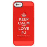[Crown] keep calm and love pj  Uncommon Cases (iPhone 5/5s/6) Uncommon Clearly™ Deflector iPhone 5 Case