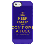 [Dancing crown] keep calm and don't give a fuck  Uncommon Cases (iPhone 5/5s/6) Uncommon Clearly™ Deflector iPhone 5 Case