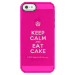[Cupcake] keep calm and eat cake  Uncommon Cases (iPhone 5/5s/6) Uncommon Clearly™ Deflector iPhone 5 Case