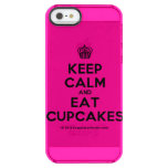 [Cupcake] keep calm and eat cupcakes  Uncommon Cases (iPhone 5/5s/6) Uncommon Clearly™ Deflector iPhone 5 Case