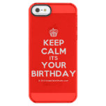 [Cupcake] keep calm its your birthday  Uncommon Cases (iPhone 5/5s/6) Uncommon Clearly™ Deflector iPhone 5 Case