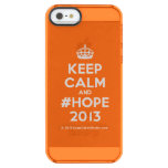 [Crown] keep calm and #hope 2013  Uncommon Cases (iPhone 5/5s/6) Uncommon Clearly™ Deflector iPhone 5 Case