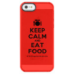 [Cutlery and plate] keep calm and eat food  Uncommon Cases (iPhone 5/5s/6) Uncommon Clearly™ Deflector iPhone 5 Case